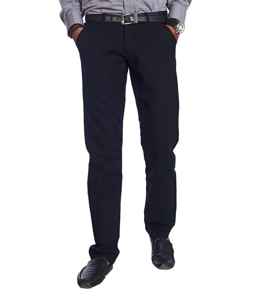 Urban Navy Black Slim Semi Formals