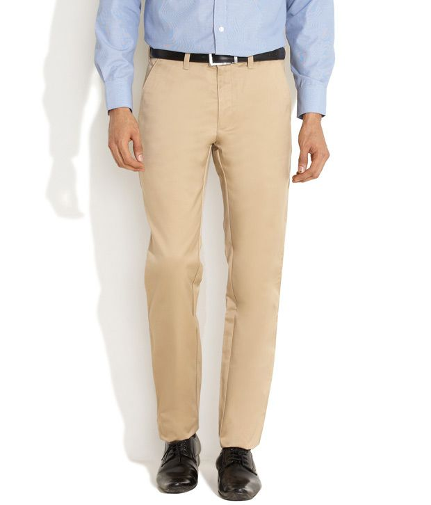Indigo Nation Natural Sheen & Style Flat-Front Trousers