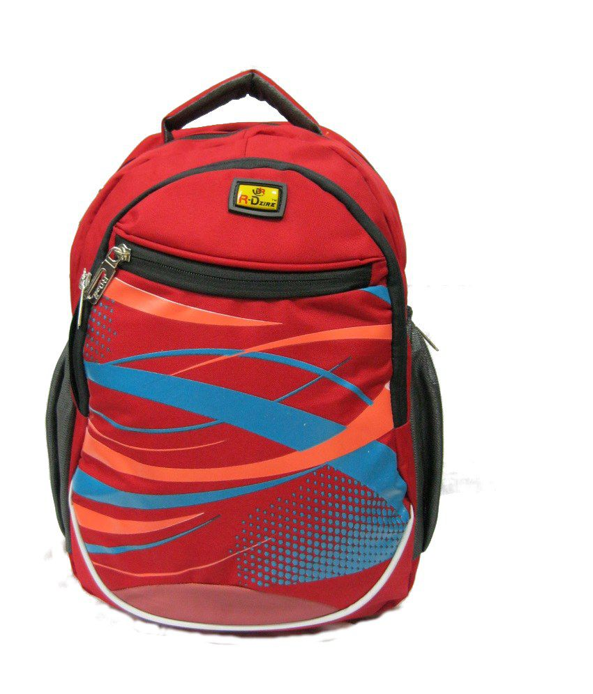 R-dzire Water Resistant Laptop Backpack Red