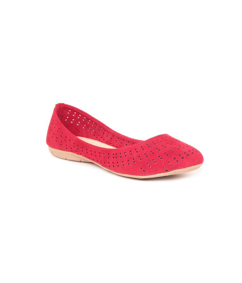Sindhi Footwear Red Ballerinas