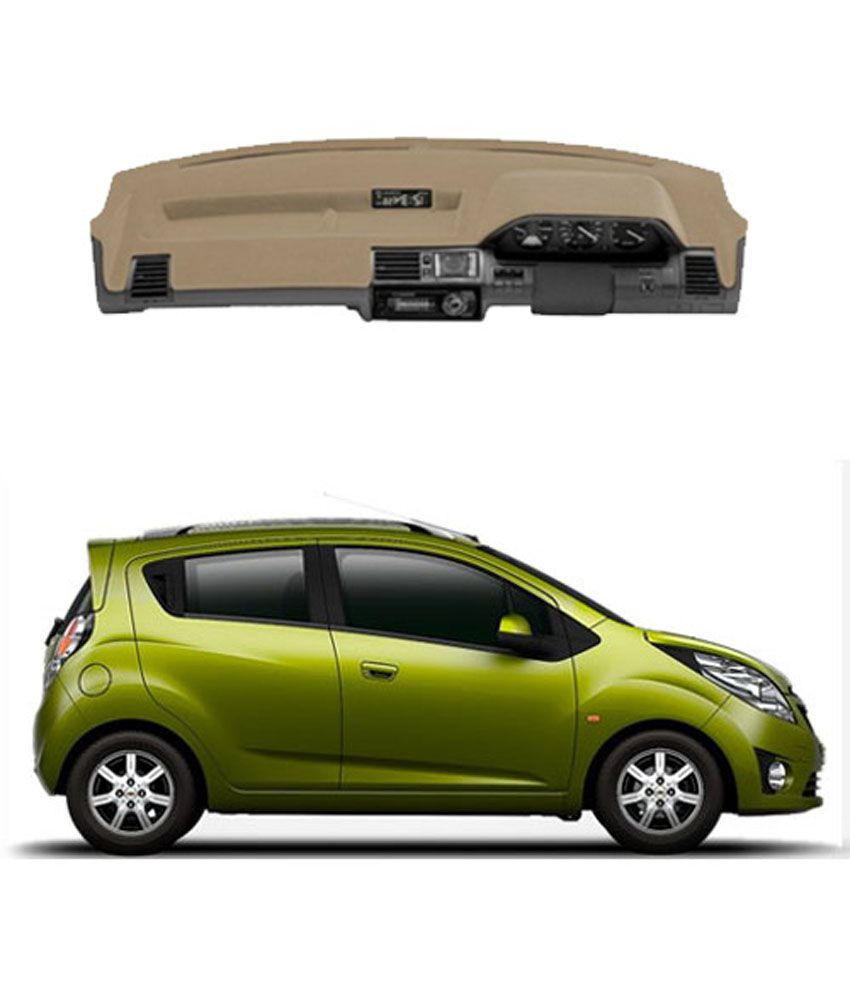 Carmate dashboard cover for chevrolet beat beige