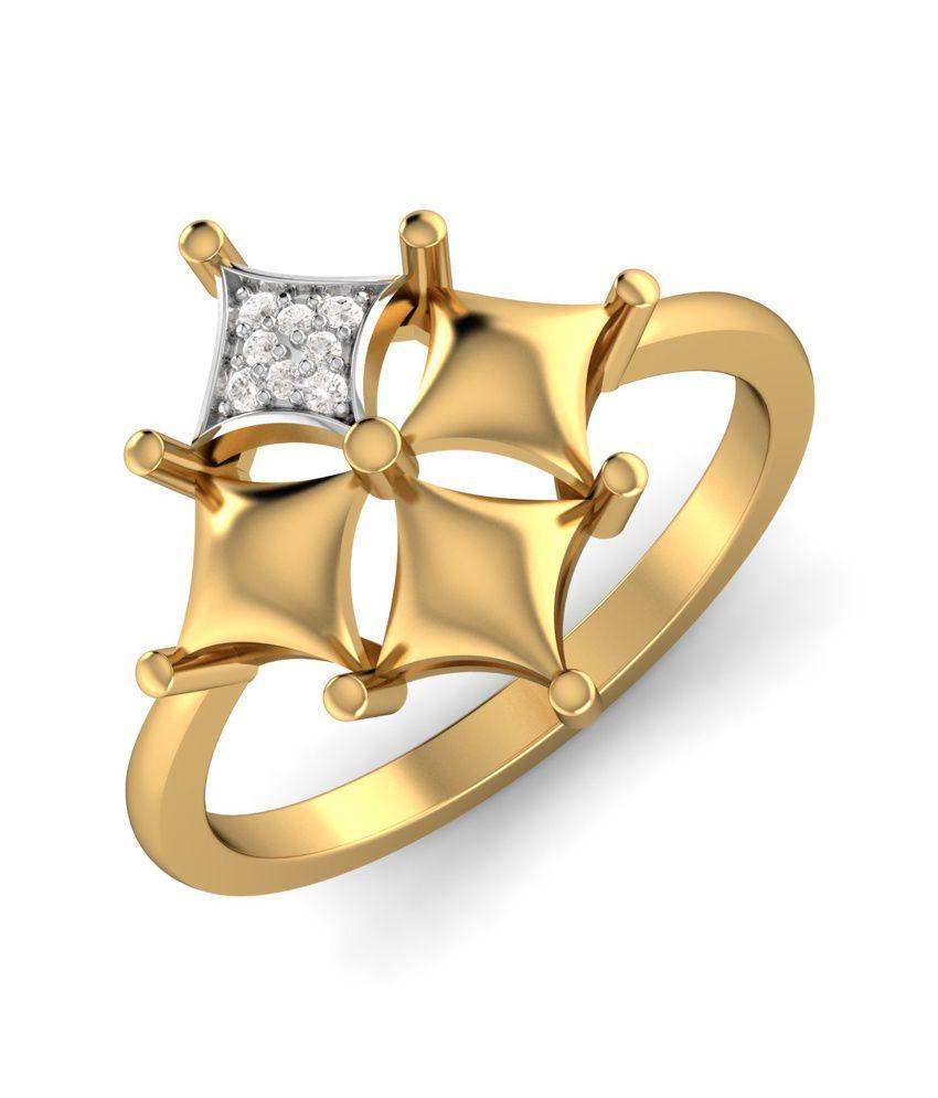 Kuberbox 14k Gold Diamond Majestic Ring