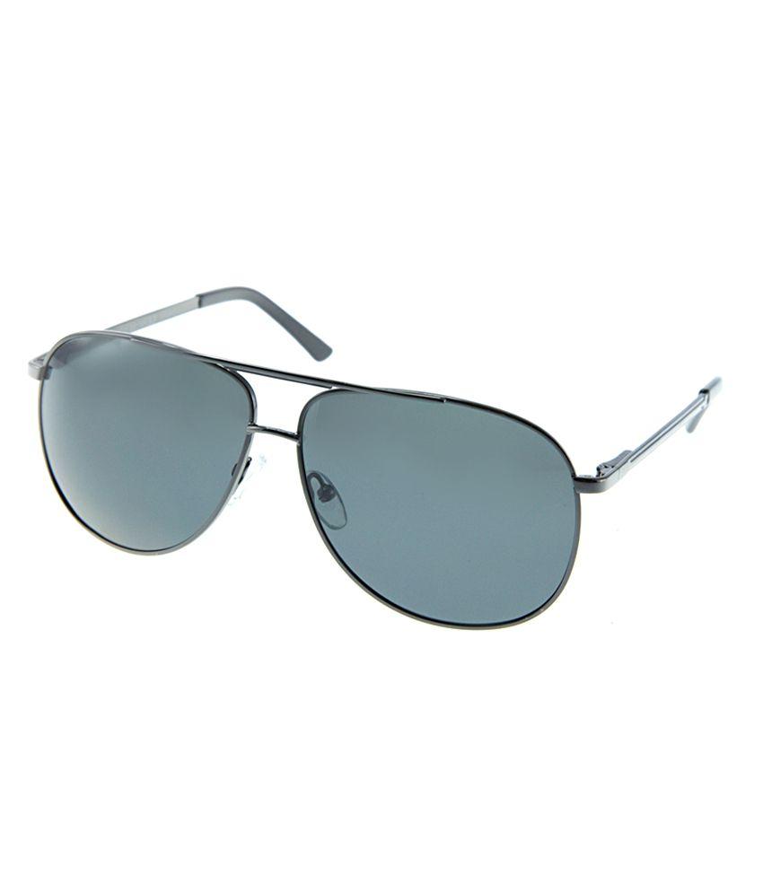 Polar Solar PS-1062-C1_M-4 Gray Large Men Aviator Sunglasses