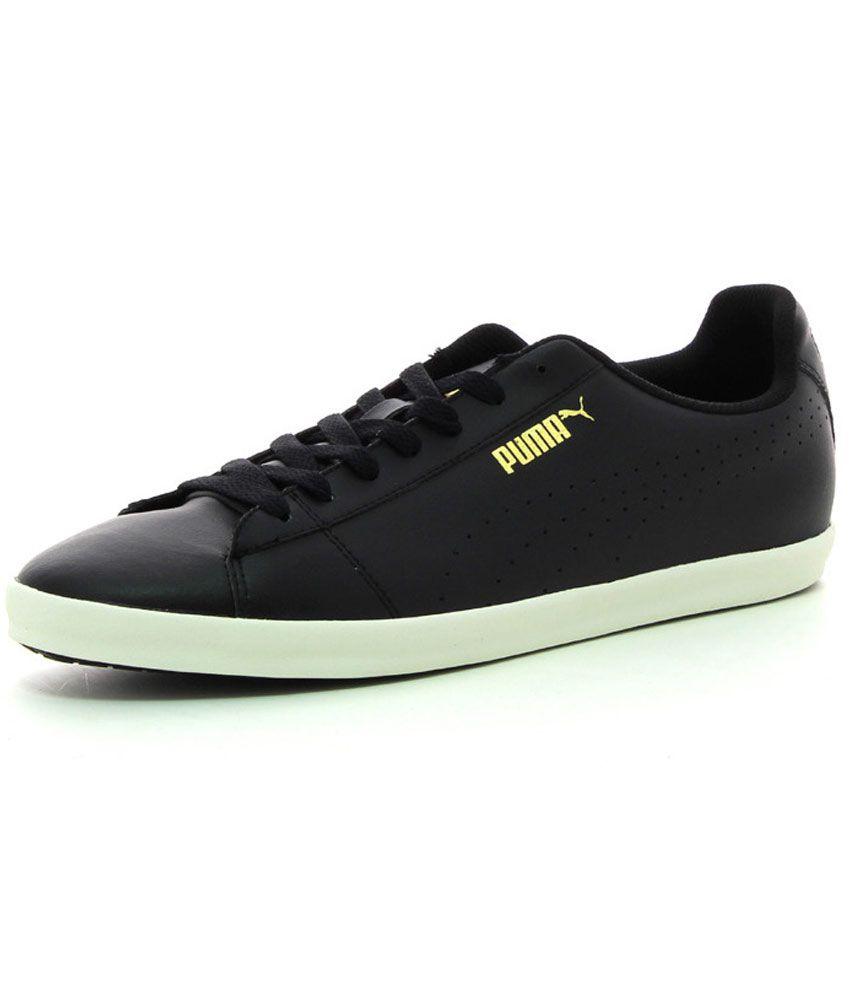 puma lack sneaker schwarz