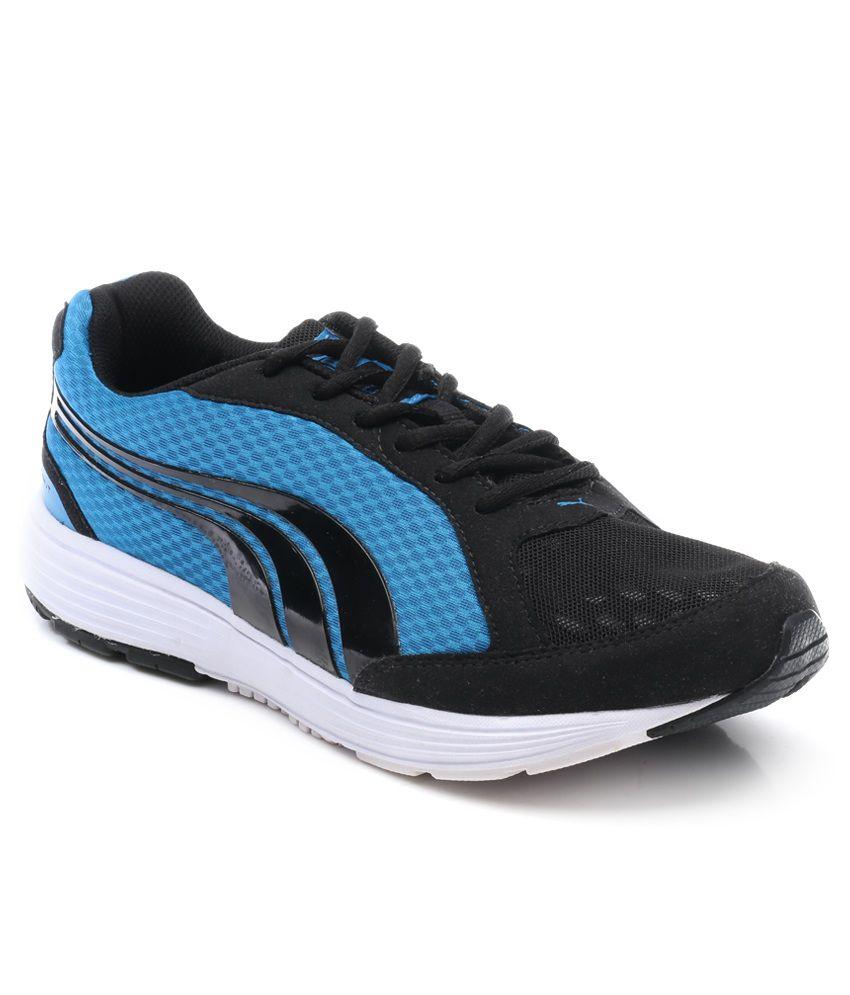 cd7899a942a5 ... reasonable price e3d39 efec8 Puma Descendant Ind. Black And Blue Sports  Shoes .. ...