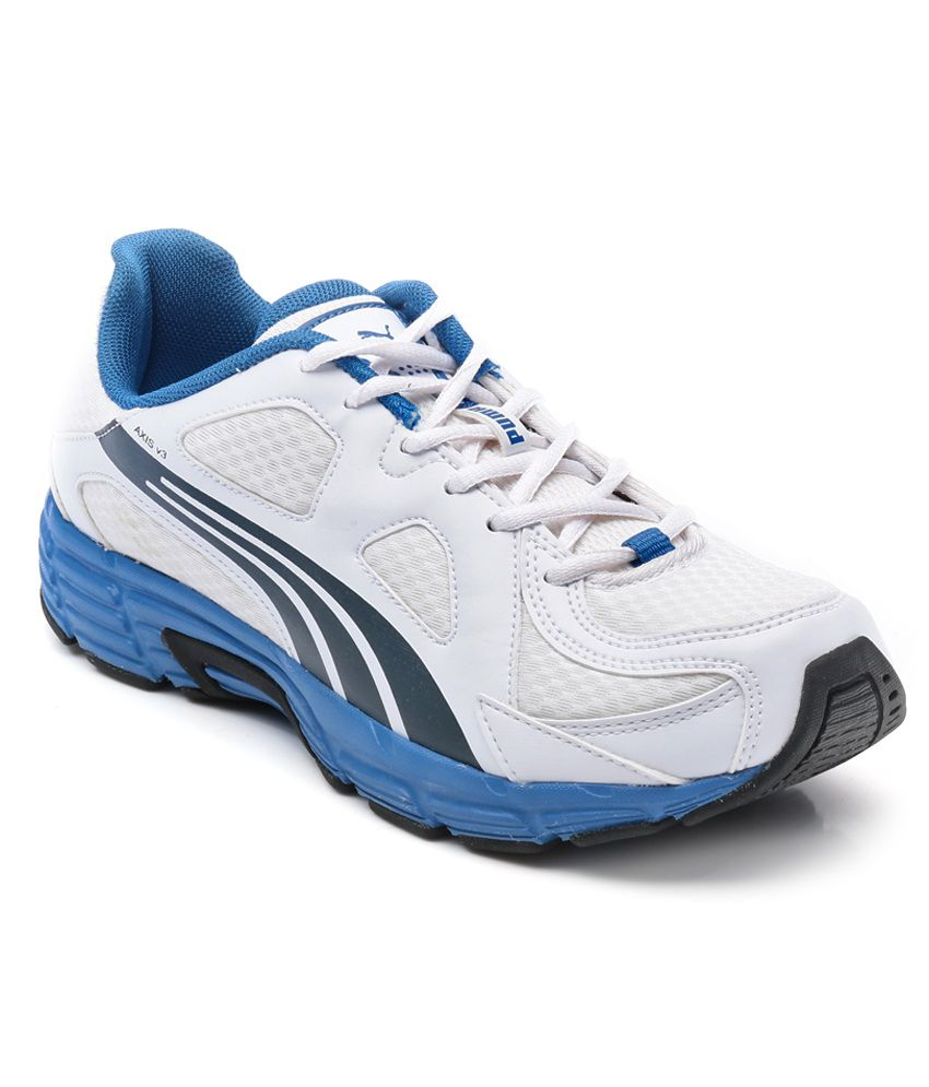 1f624f2f156 Puma Axis V3 Ind. White Running Shoes - Buy Puma Axis V3 Ind. White Running  Shoes Online at Best Prices in India on Snapdeal