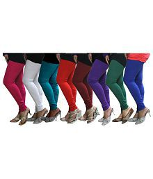 Fnme Pack Of 8 Cotton Lycra Leggings