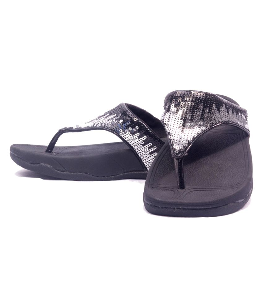 64280e44749 Irsoe Black Party Shimmer Flip Flop For Kids Price in India- Buy ...