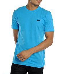 Nike Blue Cotton T-shirt