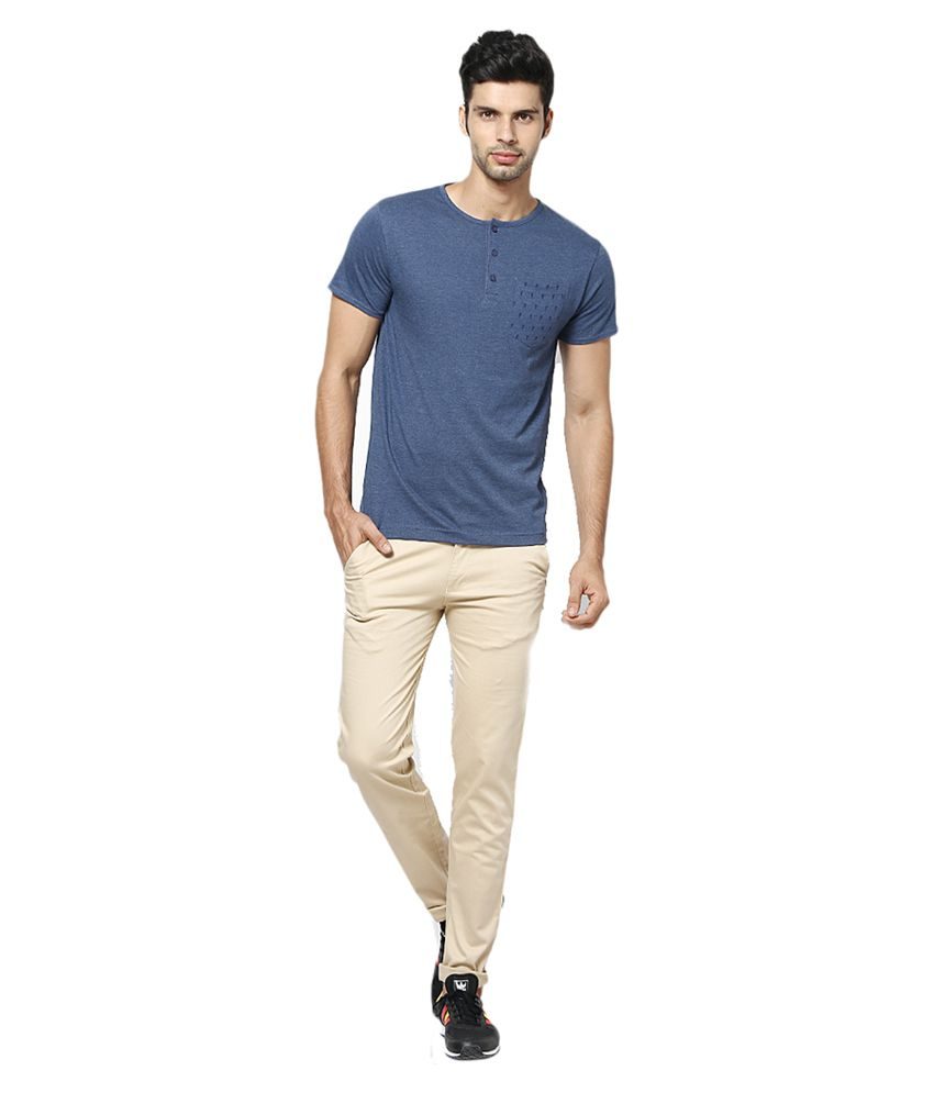 Inspire Clothing Inspiration Beige Slim Casual Chinos