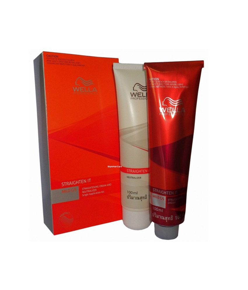 Wella Professional Straightening Cream And Neutralizer 100ml Each