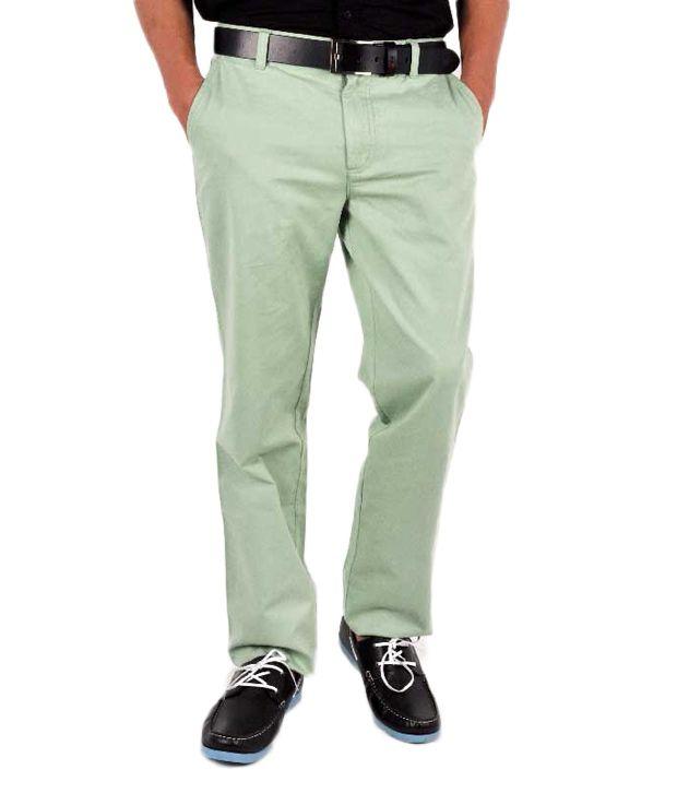 Wills Lifestyle Green Comfort Casuals
