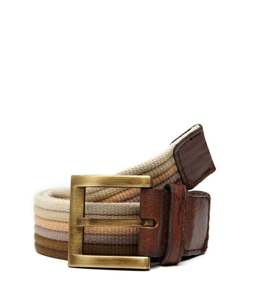 Otls Brown Casual Single Belt For Men