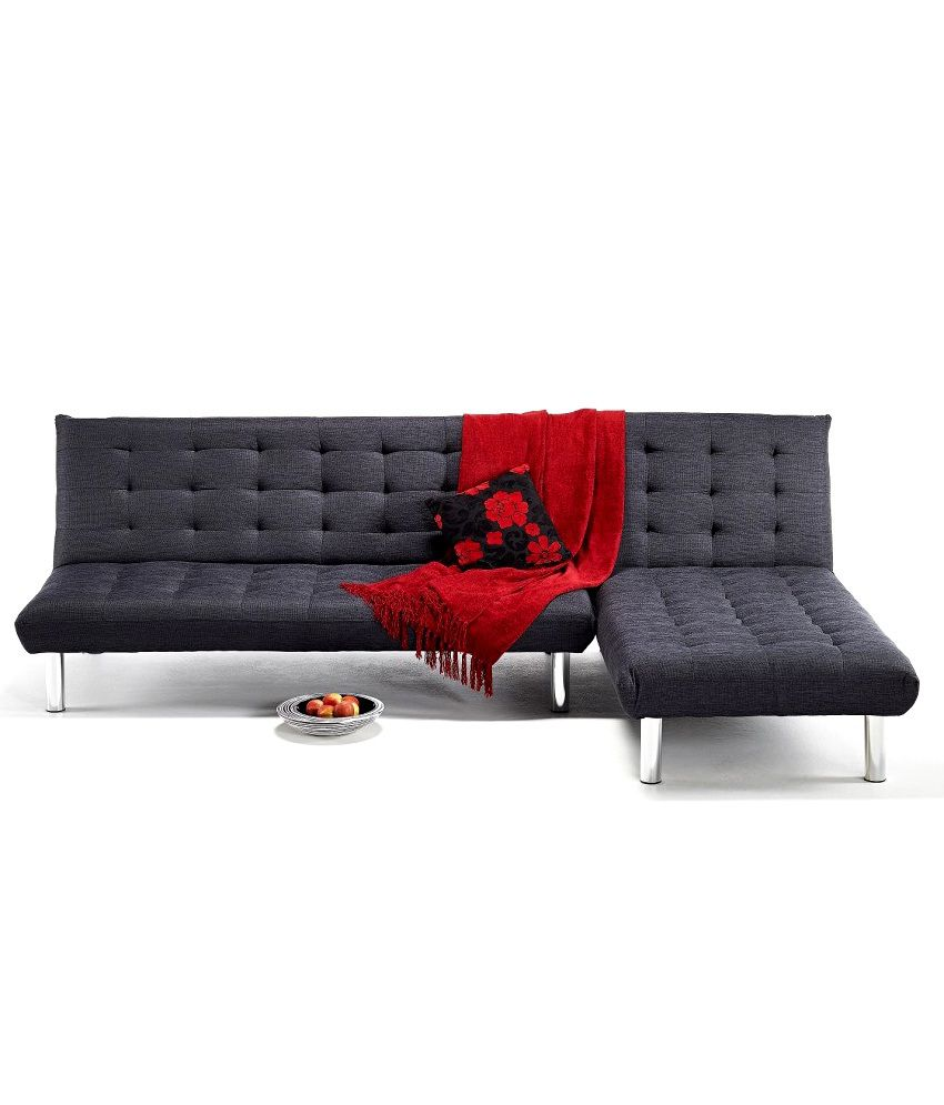 2 seater sofa with left chaise lounge in black buy 2 for 2 5 seater chaise lounge