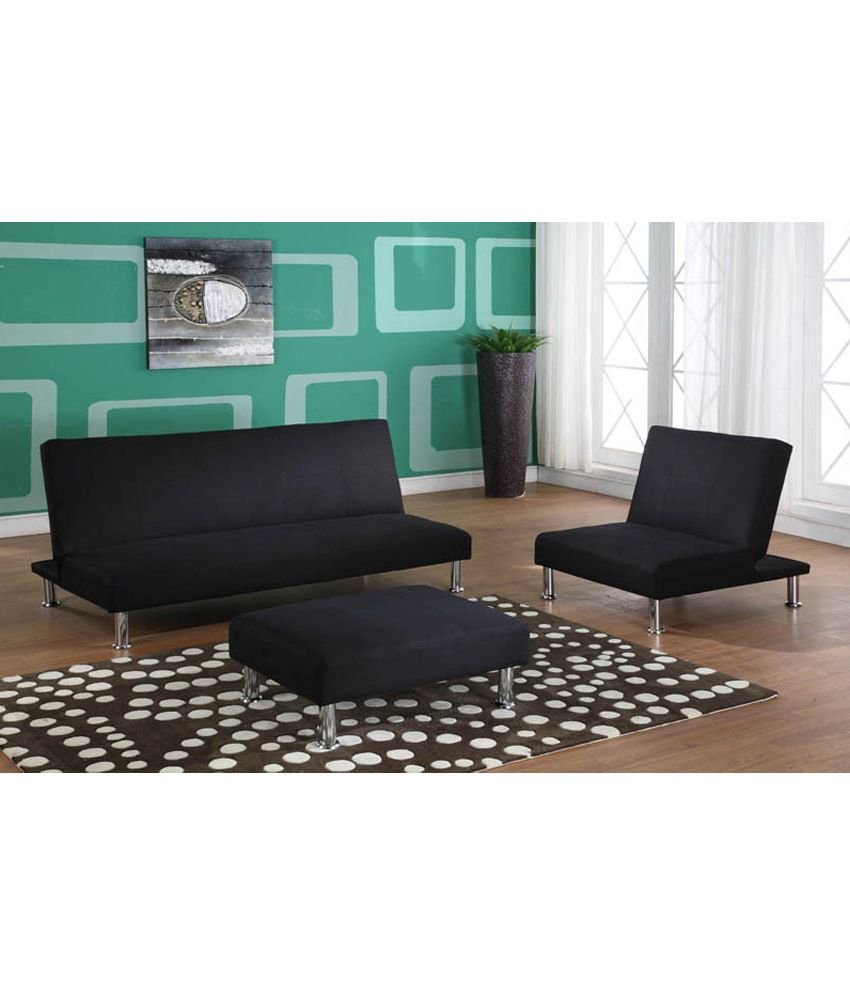 Kyra Sofa Cum Bed Set In Black Buy Kyra Sofa Cum Bed Set