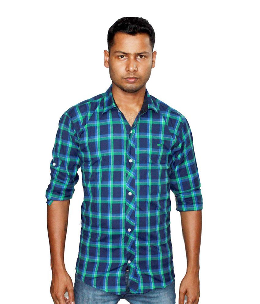 Lafantar Men's Checked Super Slim Fit Casual Shirt