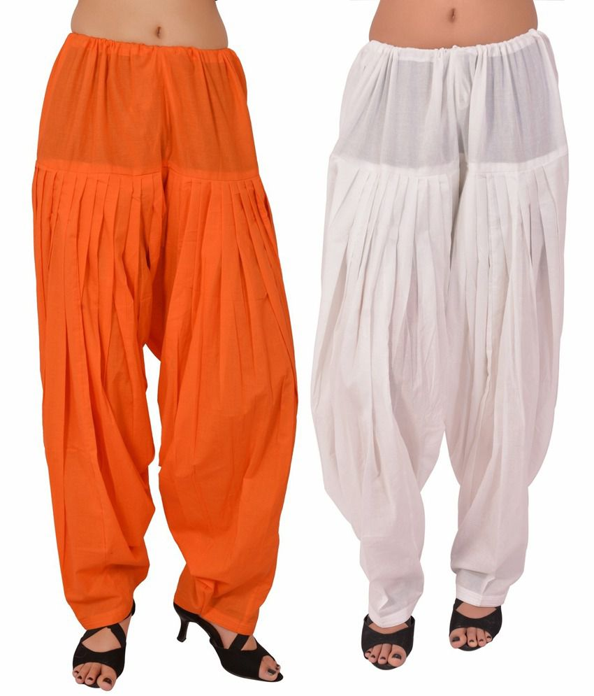 Stylenmart Combo Offers Pack Of 2 Orange And White