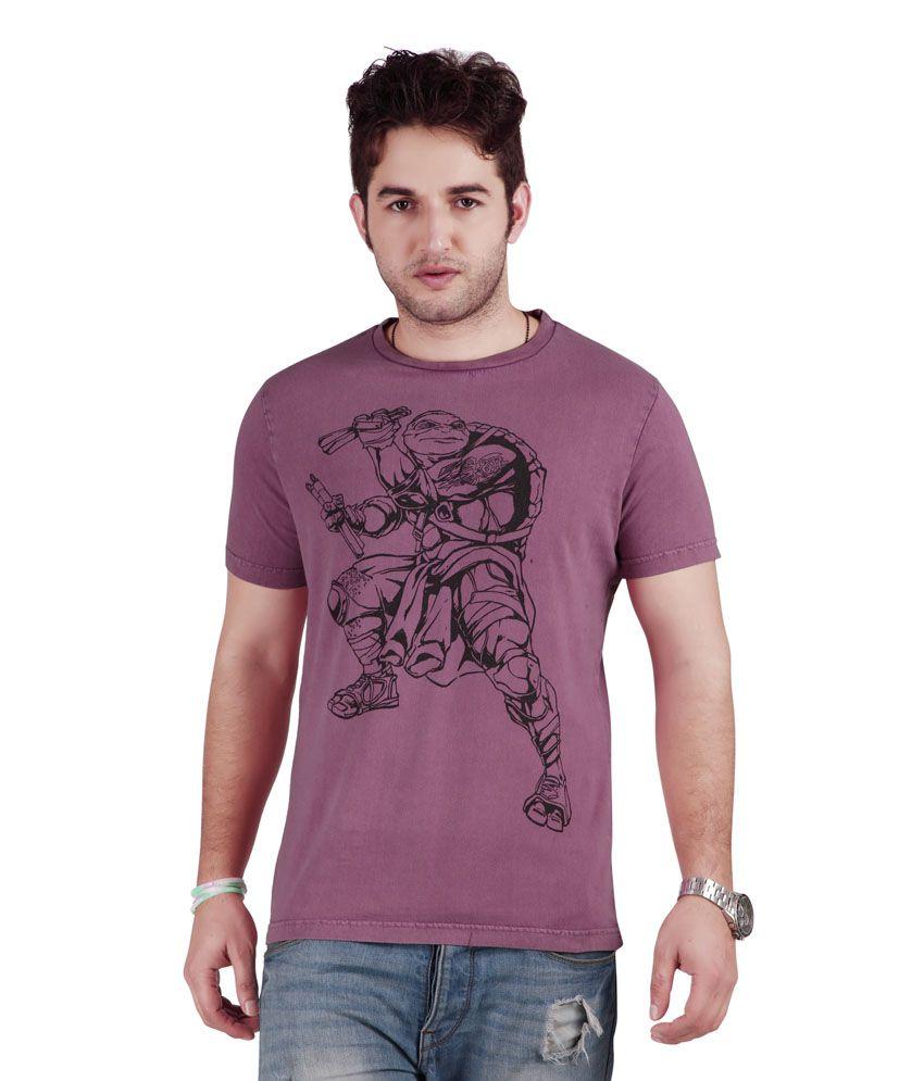 Teenage Mutant Ninja Turtle Purple Round Neck T.shirt