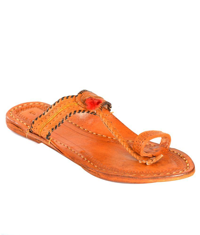 Tip Top Footwear Flat Tan Slippers ...
