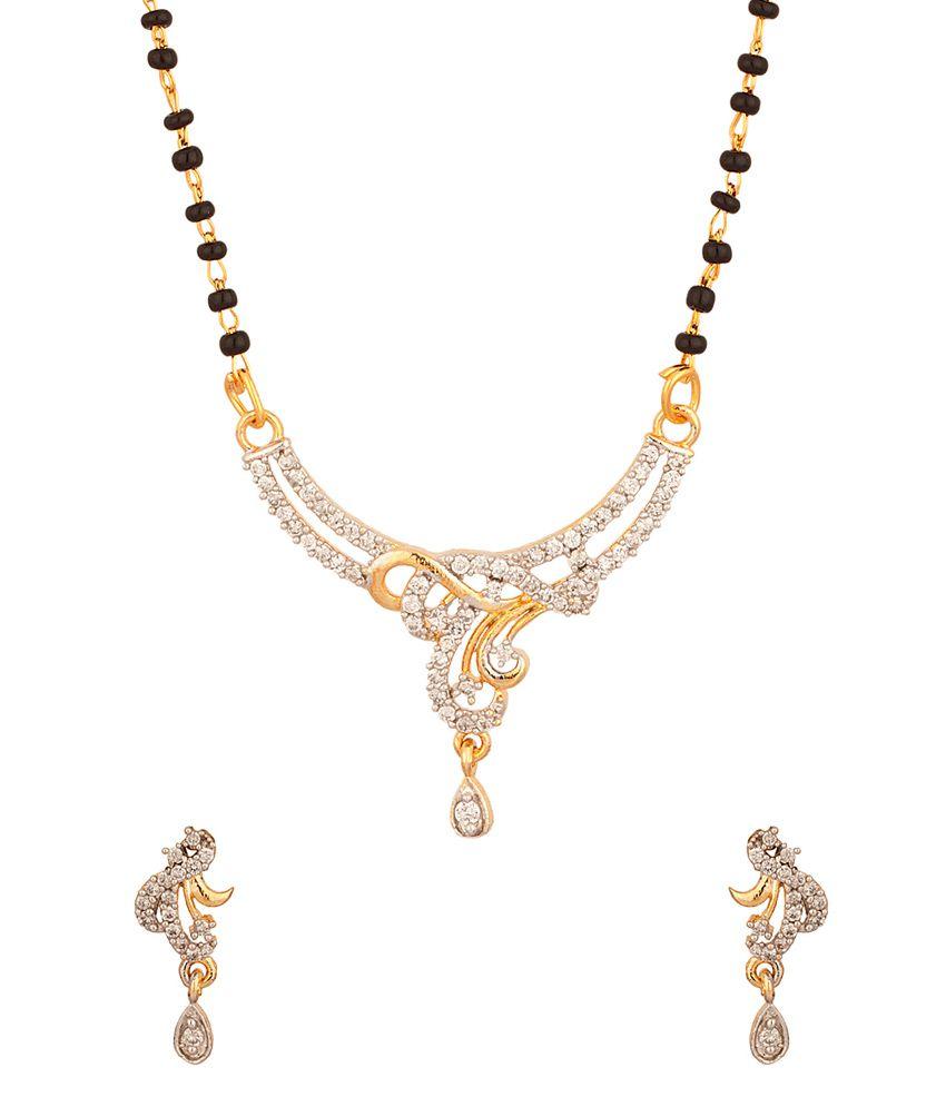 Voylla Single Chain Mangalsutra With Exotic Cz Arrangement