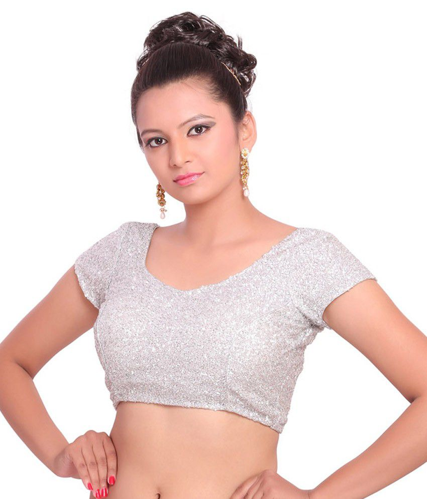 a5d6c9d7bb6 Inblue Fashions Silver Sequin Blouse - Buy Inblue Fashions Silver Sequin  Blouse Online at Low Price - Snapdeal.com