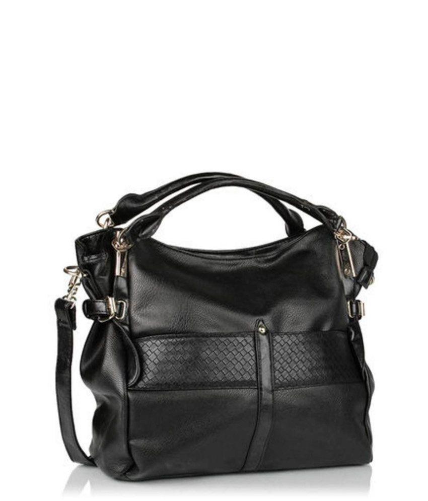 Senora Black Shoulder Bags