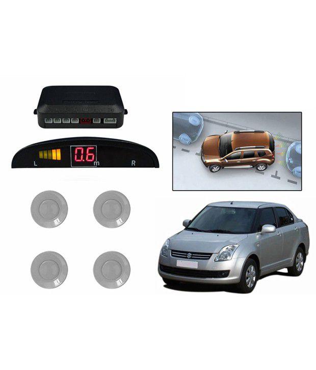Speedwav Reverse Car Parking Sensor Led Display Silver -maruti Swift Dzire