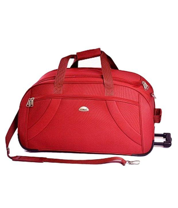 Timus Samprass 55 Red Wheel Duffle Luggage Trolley Bag