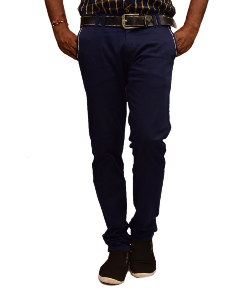 British Terminal Blue Slim Casuals Chinos