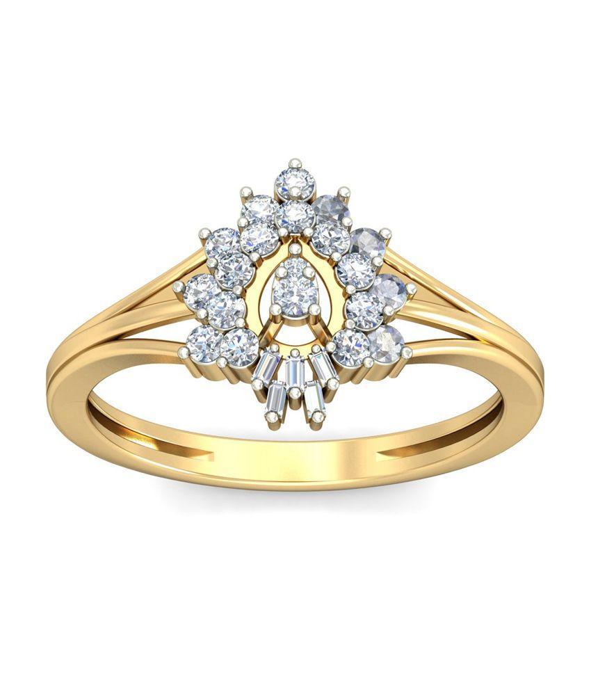 18Kt HALLMAKRED Gold & IGI CERTIFIED Diamonds The Shay Ring By PC Jeweller