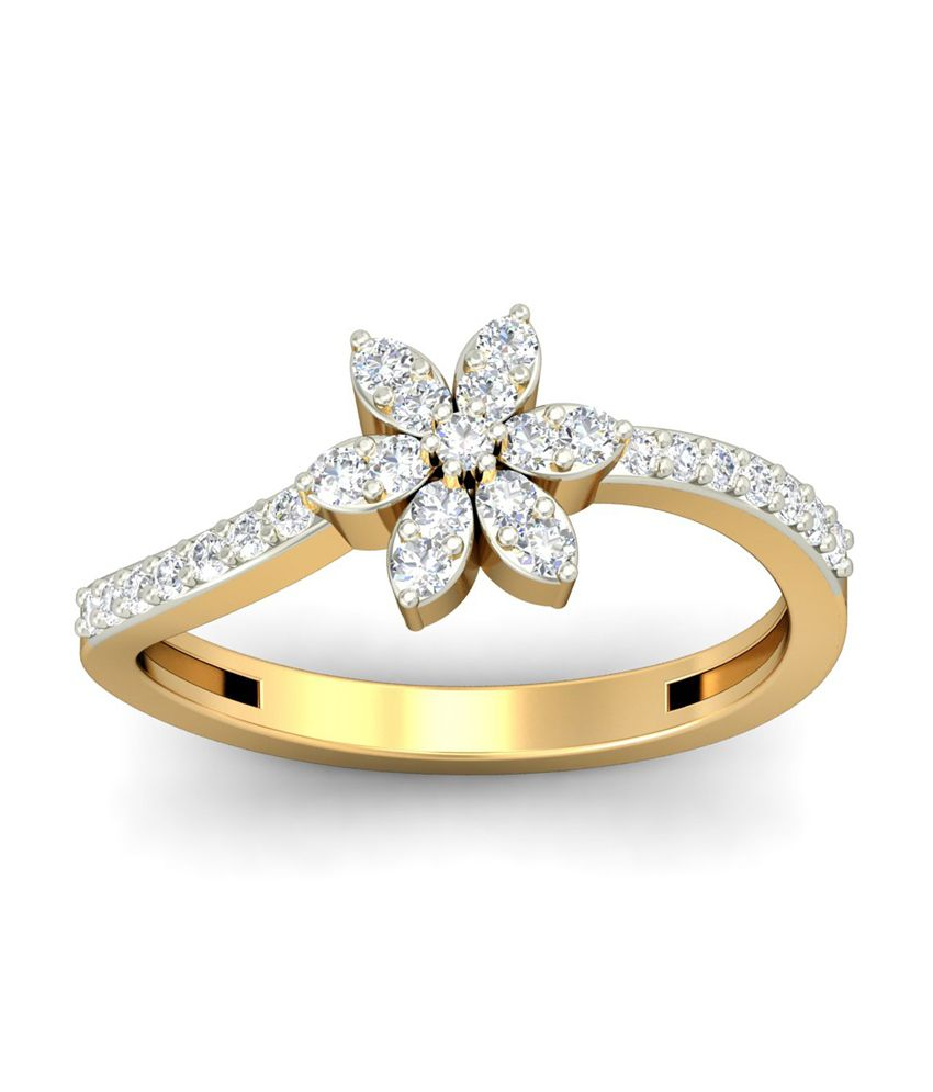 18Kt HALLMAKRED Gold & IGI CERTIFIED Diamonds The Calantha Ring By PC Jeweller