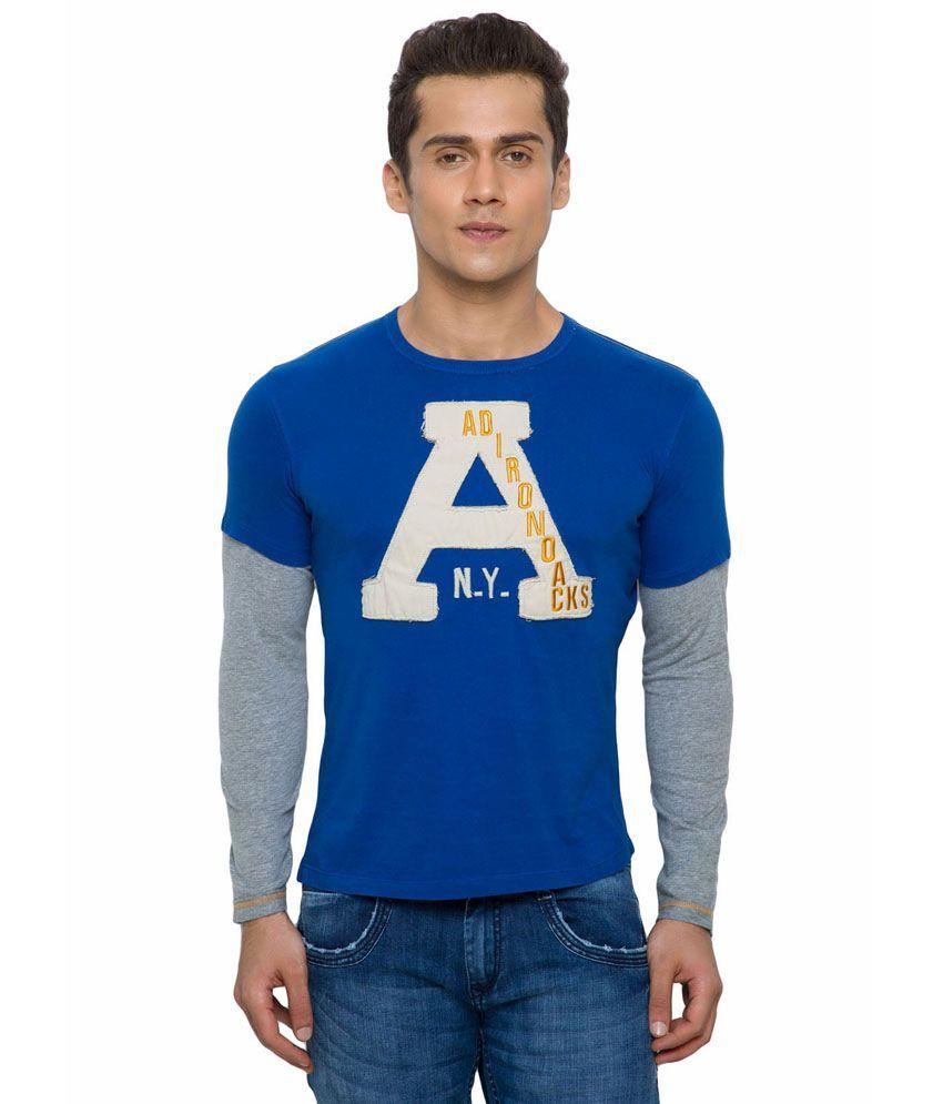 Alcott Blue Cotton T-shirt