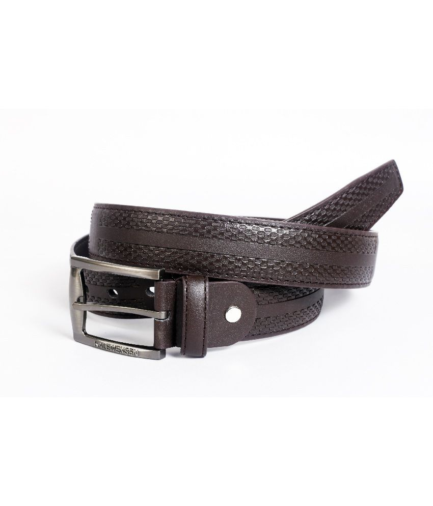 Flying Colours Brown Formal Single Belt For Men