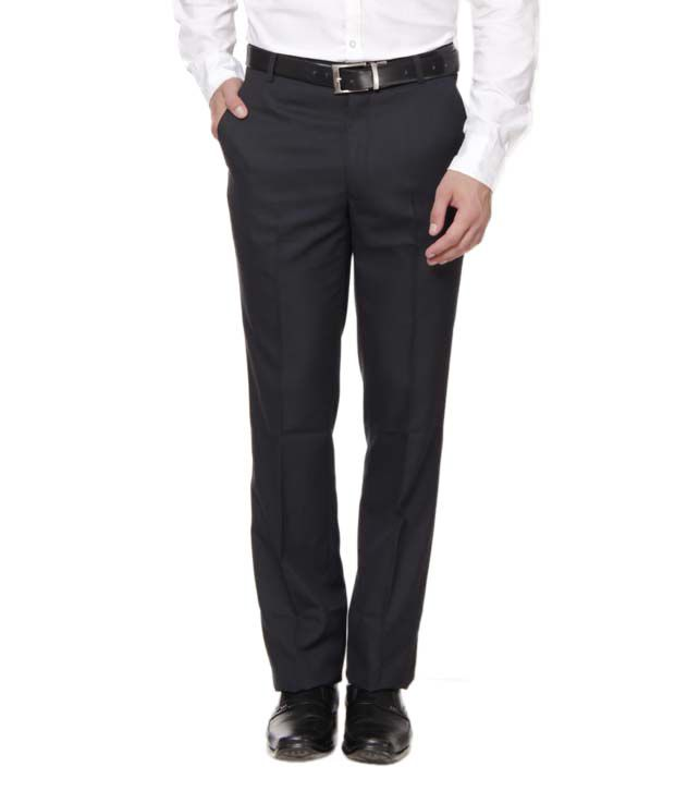 Inspire Clothing Inspiration Black Slim Fit Formal Trouser