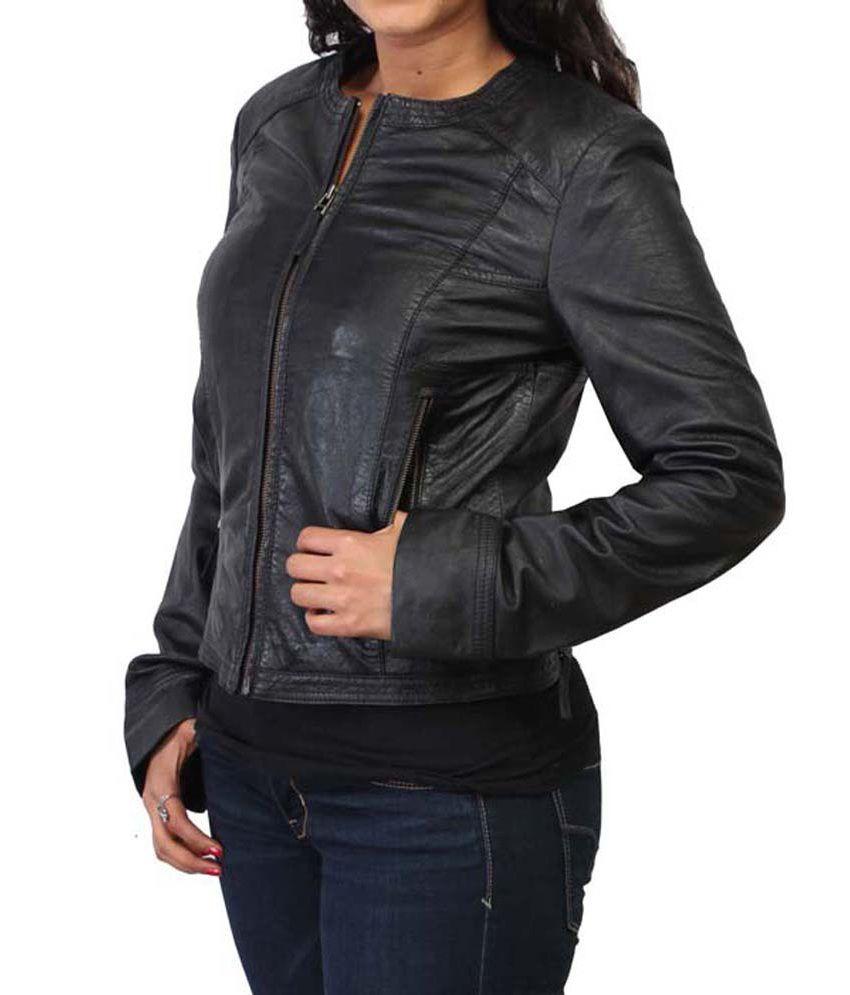 Leather jacket india -  Bareskin Black Leather Jackets