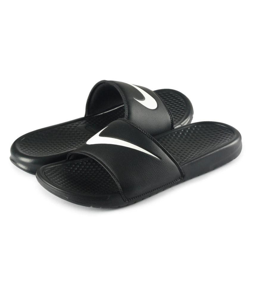 5d9d1aedc784 Nike Black Benassi Swoosh Price in India- Buy Nike Black Benassi ...