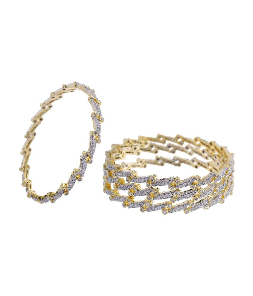Pearls Cart Gray Alloy Party Bangles