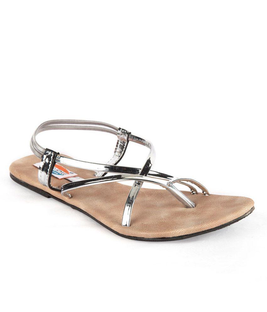 WALK N STYLE Silver Sandal