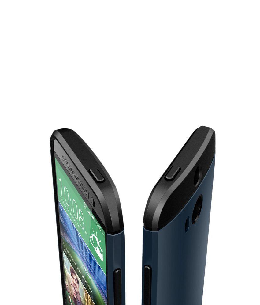 reputable site 42a97 b21f5 Spigen HTC One M8 Case Cover Slim Armor [Metal Slate]
