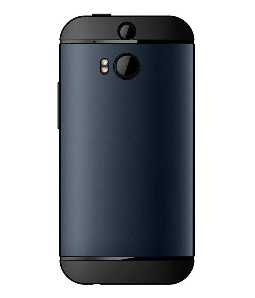 reputable site 4a6c8 90cd8 Spigen HTC One M8 Case Cover Slim Armor [Metal Slate]