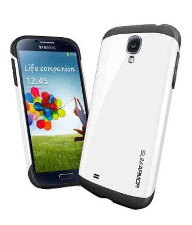 quality design 5198d 30cd5 Spigen Samsung Galaxy S4 Case Cover Slim Armor (Infinity White) SGP10204