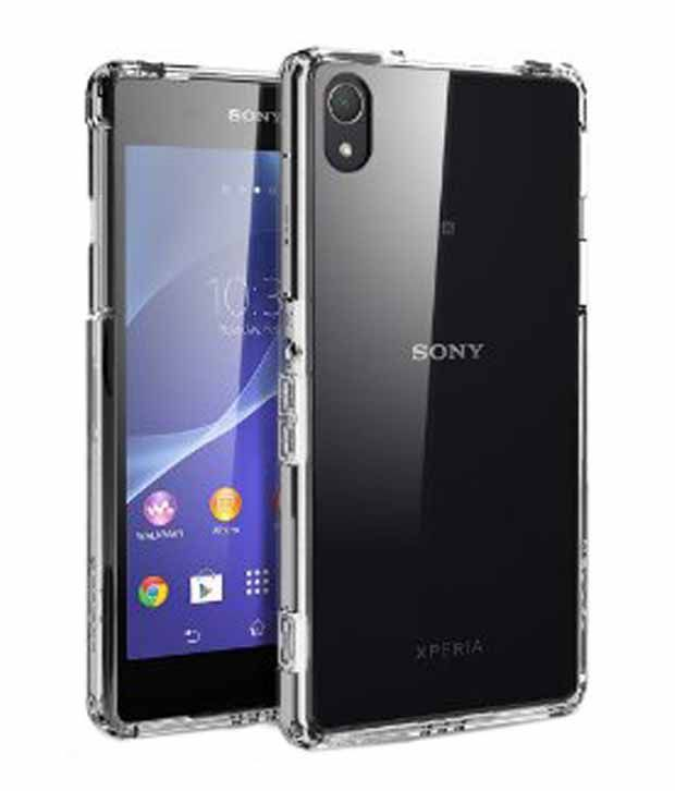 reputable site 616e5 40f70 Spigen Sony Xperia Z2 Case Cover Ultra Hybrid with Free Spigen Screen Guard  (Crystal Clear)