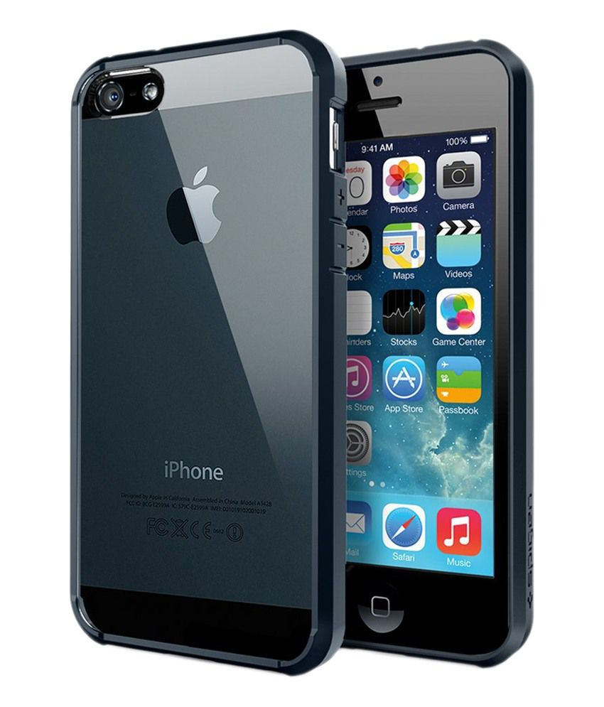 e1a172f5e Spigen iPhone SE 5S 5 Back Case Ultra Hybrid (Metal Slate) (ECO Package) -  Mobile Cover Combos Online at Low Prices
