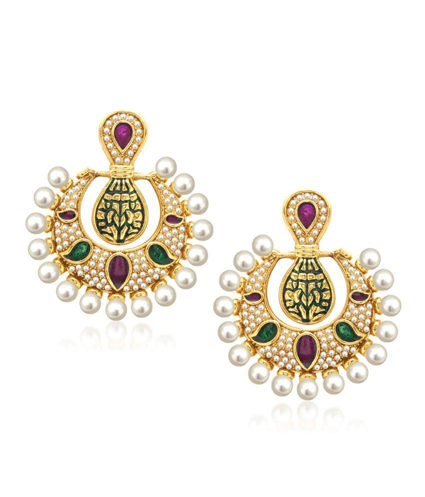 Vk Jewels Crescent Earring Set.