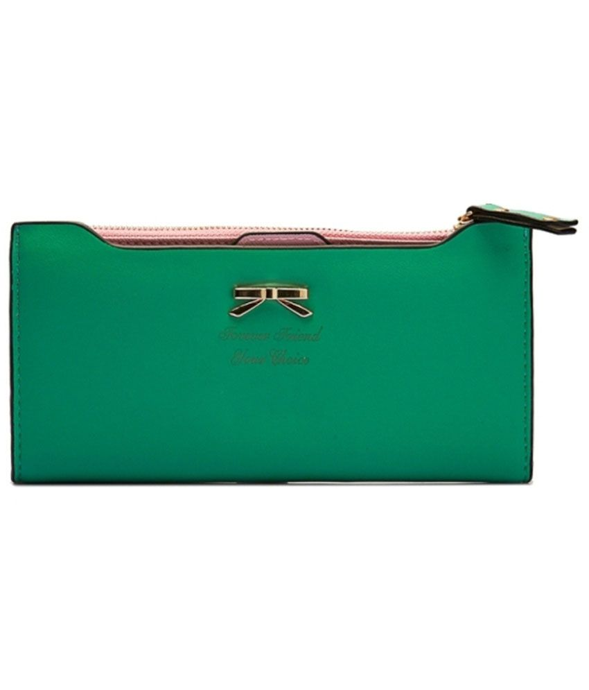 Circuzz Casual And Catchy Green Wallet