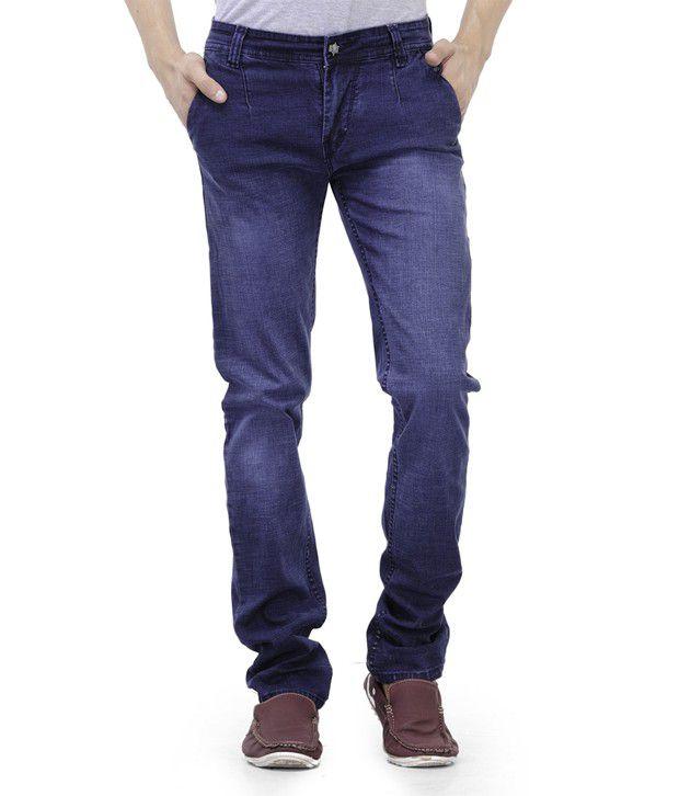Kiosha Mens Blue Causal Jeans
