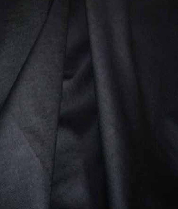 Raymond Black Poly Blend Unstitched Pant Pc