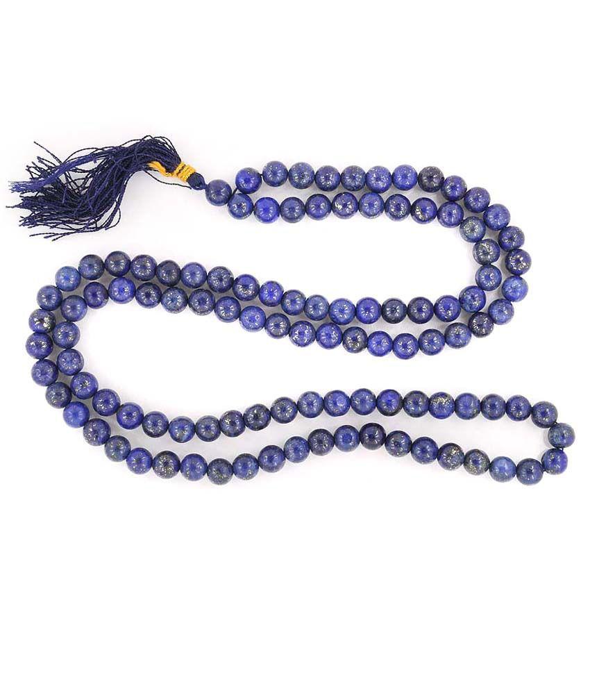 Single Line Beads: Barishh Blue Sapphire Single Line 7 Mm Bead Gemstone