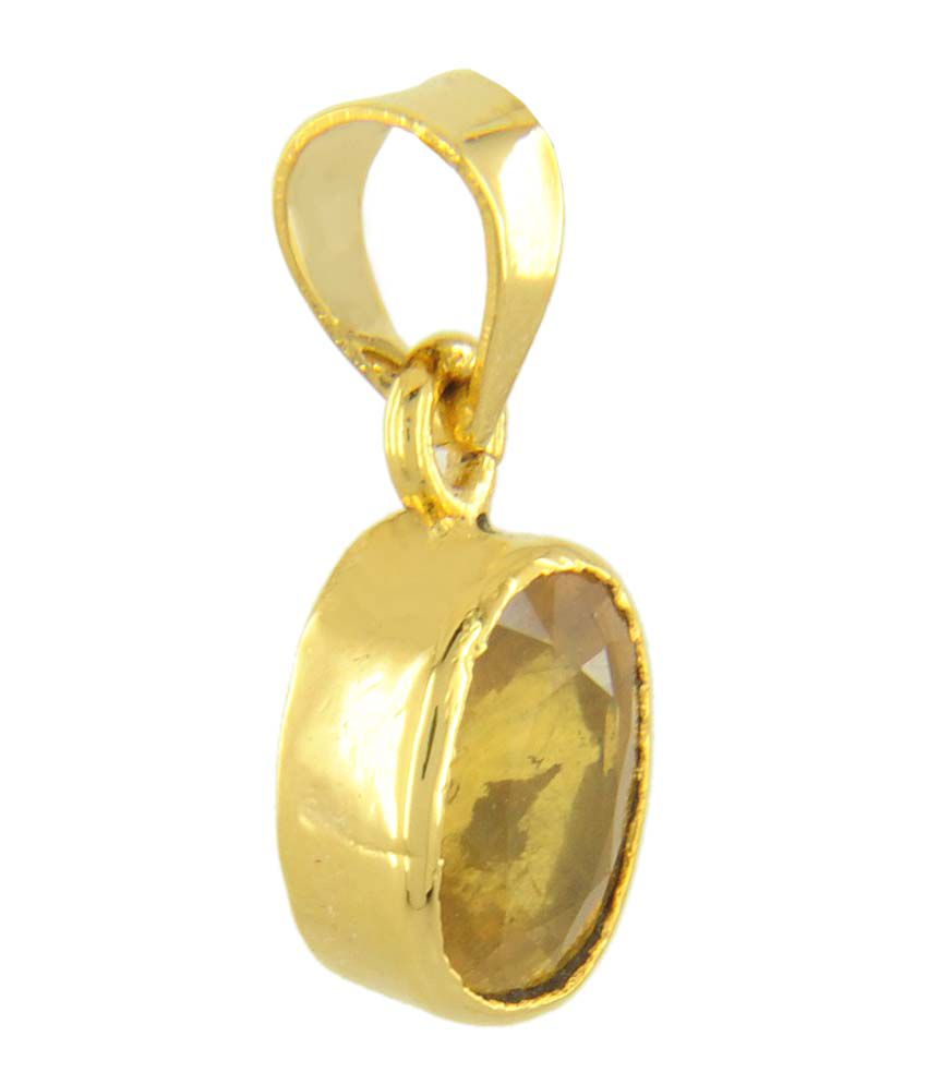 pendant image pendants stone yellow jewellery finnies gold coloured sapphire the jewellers
