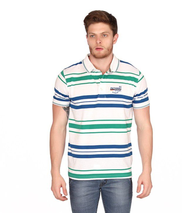 Fritzberg Fbst 13 Hs Emerald_ Blue Men T-shirt